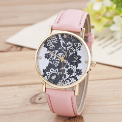 Black Floral Print Watch - Oh Yours Fashion - 10