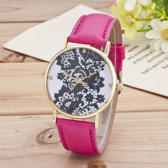 Black Floral Print Watch - Oh Yours Fashion - 6