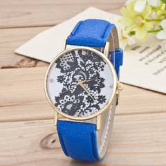 Black Floral Print Watch - Oh Yours Fashion - 7