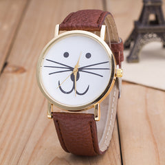 Cute Kitty Face Leather Watch - Oh Yours Fashion - 8