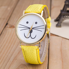 Cute Kitty Face Leather Watch - Oh Yours Fashion - 3