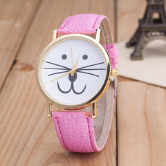 Cute Kitty Face Leather Watch - Oh Yours Fashion - 9