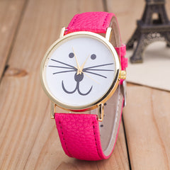 Cute Kitty Face Leather Watch - Oh Yours Fashion - 7