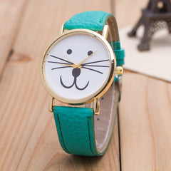 Cute Kitty Face Leather Watch - Oh Yours Fashion - 1