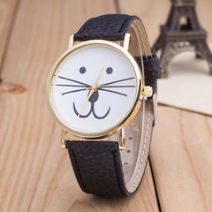 Cute Kitty Face Leather Watch - Oh Yours Fashion - 5