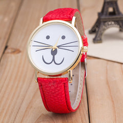 Cute Kitty Face Leather Watch - Oh Yours Fashion - 4
