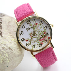 Classic Flower Print Leather Watch - Oh Yours Fashion - 6