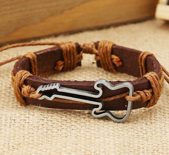 Hot Style Guitar Leather Bracelet - Oh Yours Fashion - 4