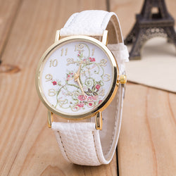 Korea Style Floral Print Watch - Oh Yours Fashion - 1
