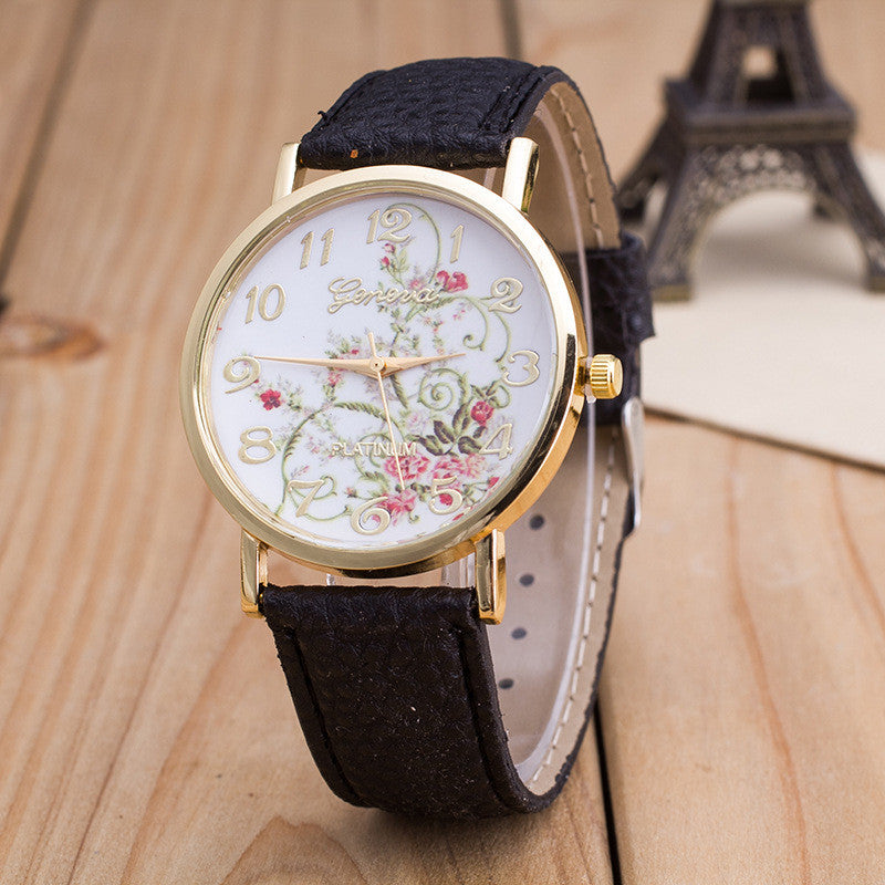 Korea Style Floral Print Watch - Oh Yours Fashion - 4