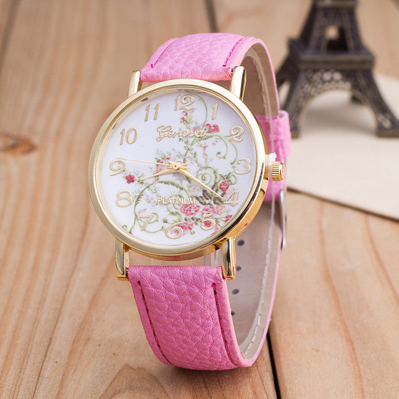 Korea Style Floral Print Watch - Oh Yours Fashion - 8