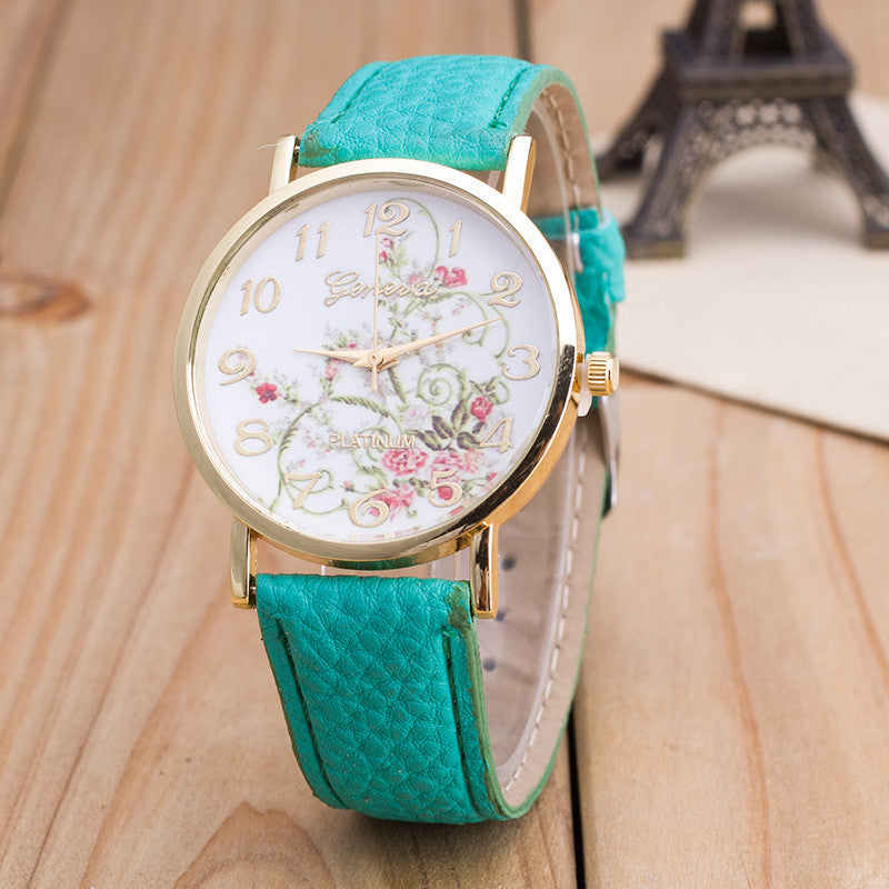Korea Style Floral Print Watch - Oh Yours Fashion - 9