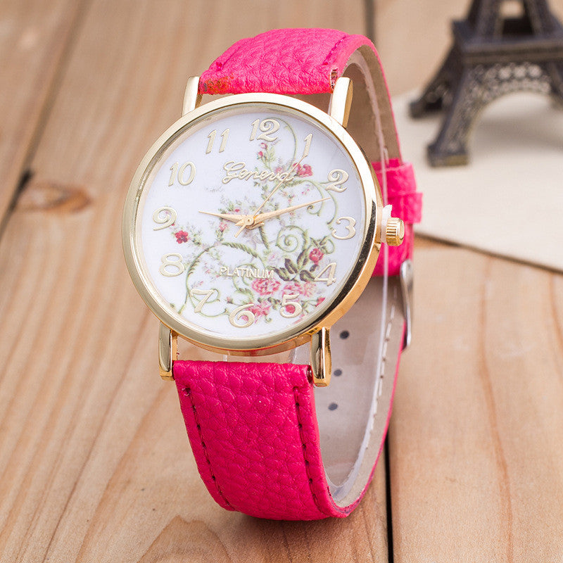 Korea Style Floral Print Watch - Oh Yours Fashion - 6