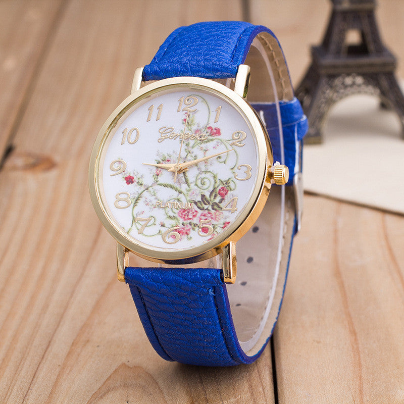 Korea Style Floral Print Watch - Oh Yours Fashion - 5