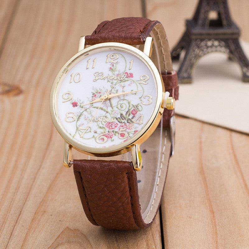 Korea Style Floral Print Watch - Oh Yours Fashion - 7