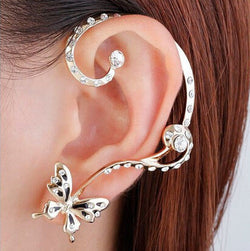 Personality Butterfly Crystal Earring Clip - Oh Yours Fashion - 1