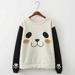 Pullover Print Scoop Long Sleeves Slim Sweatshirt - Oh Yours Fashion - 1