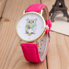 Owl Print PU Strap Watch - Oh Yours Fashion - 7