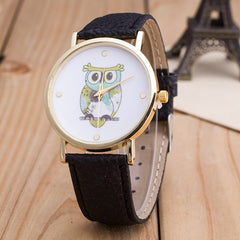 Owl Print PU Strap Watch - Oh Yours Fashion - 4