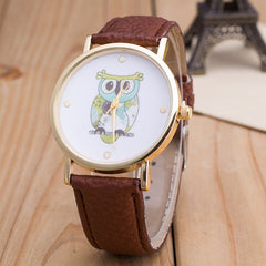 Owl Print PU Strap Watch - Oh Yours Fashion - 8