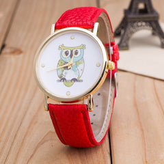 Owl Print PU Strap Watch - Oh Yours Fashion - 3