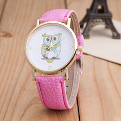 Owl Print PU Strap Watch - Oh Yours Fashion - 9