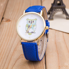 Owl Print PU Strap Watch - Oh Yours Fashion - 5