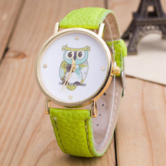 Owl Print PU Strap Watch - Oh Yours Fashion - 2