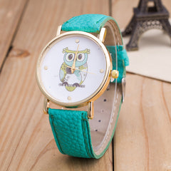 Owl Print PU Strap Watch - Oh Yours Fashion - 6