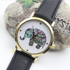 Colorful Elephant Leather Quartz Watch - Oh Yours Fashion - 1