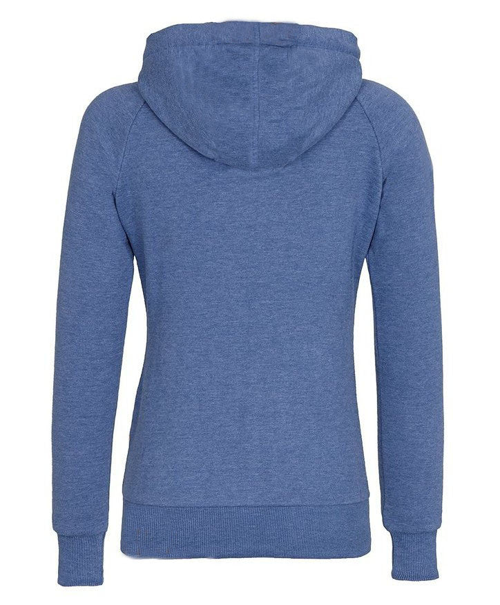 Solid Color Zipper Pocket Women Hoodie - O Yours Fashion - 2