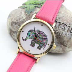 Colorful Elephant Leather Quartz Watch - Oh Yours Fashion - 6