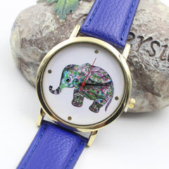 Colorful Elephant Leather Quartz Watch - Oh Yours Fashion - 4