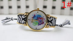 Color Matching Spinning Butterfly Flower Print Watch - Oh Yours Fashion - 2