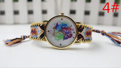Color Matching Spinning Butterfly Flower Print Watch - Oh Yours Fashion - 7
