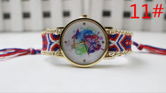 Color Matching Spinning Butterfly Flower Print Watch - Oh Yours Fashion - 14