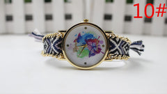 Color Matching Spinning Butterfly Flower Print Watch - Oh Yours Fashion - 13