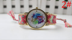 Color Matching Spinning Butterfly Flower Print Watch - Oh Yours Fashion - 4