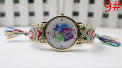 Color Matching Spinning Butterfly Flower Print Watch - Oh Yours Fashion - 12
