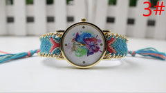 Color Matching Spinning Butterfly Flower Print Watch - Oh Yours Fashion - 6