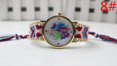 Color Matching Spinning Butterfly Flower Print Watch - Oh Yours Fashion - 11