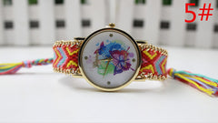 Color Matching Spinning Butterfly Flower Print Watch - Oh Yours Fashion - 8