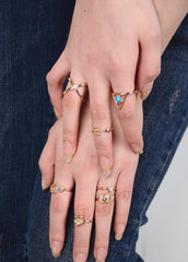 Personality Gypsy Elephant 3D Triangle Combination Ring - Oh Yours Fashion - 4