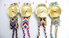 Handmade DIY Woven Bracelet Watch - Oh Yours Fashion - 3