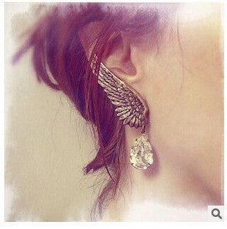 Fashion Angel's Wings Left Single Clip Earrings - Oh Yours Fashion - 1