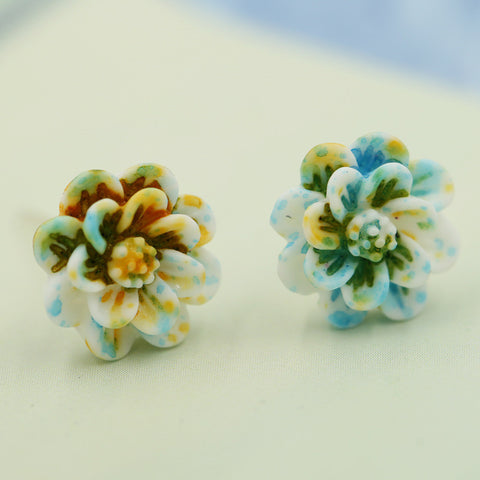 Little Daisy Ceramic Flowers Earring