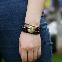Aquarius Constellation Woven Leather Bracelet - Oh Yours Fashion - 2