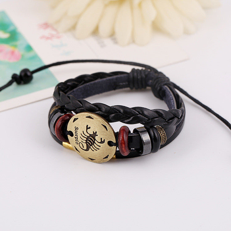 Scorpio Constellation Leather Bracelet - Oh Yours Fashion - 3