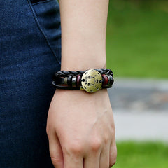 Libra Constellation Woven Leather Bracelet - Oh Yours Fashion - 2