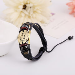 Libra Constellation Woven Leather Bracelet - Oh Yours Fashion - 3